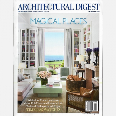 2010 December Architectural Digest - Cover