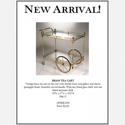 BRASS TEA CART