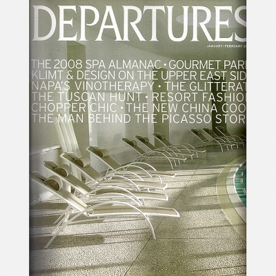 2008 January Departures Magazine - Cover