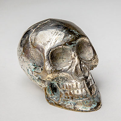 MINI SILVER FINISH SKULL