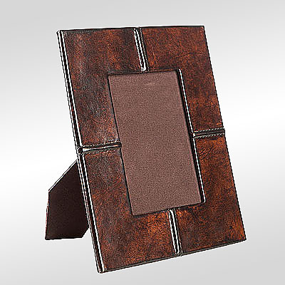 STITCHED LEATHER PHOTO FRAME