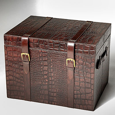 MEDIUM FAUX CROC TRUNK