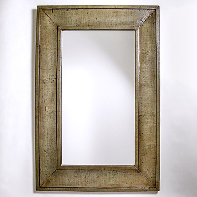 WOOD TRIM WALL MIRROR
