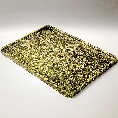 GREEN SHAGREEN TRAY
