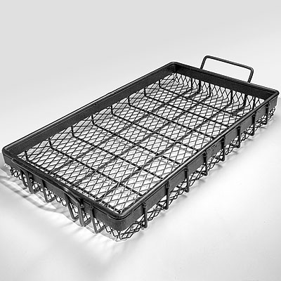 LARGE WIRE BLACK TRAY