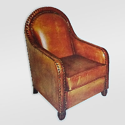 ARCH BACK ARM CHAIR LEATHER