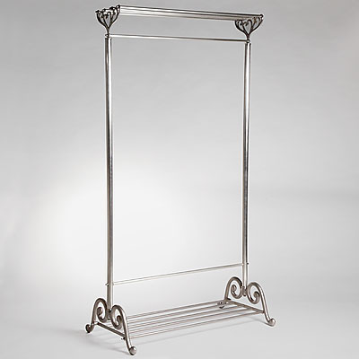NICKEL METAL CLOTHES RACK