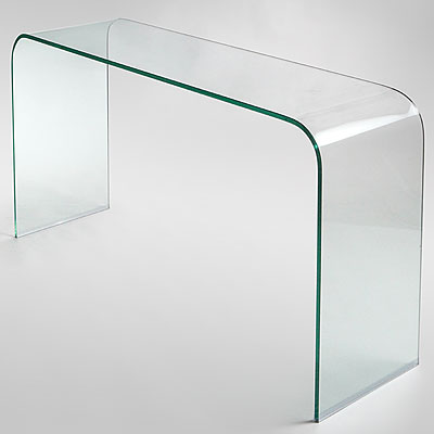 LARGE GLASS CONSOLE TABLE