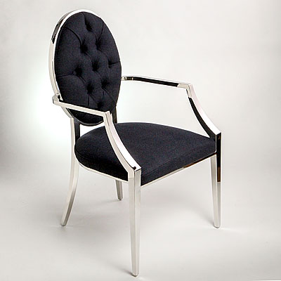 DINING CHAIR - STAINLESS STEEL FRAME