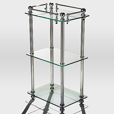 GLASS & CHROME SIDE TABLE
