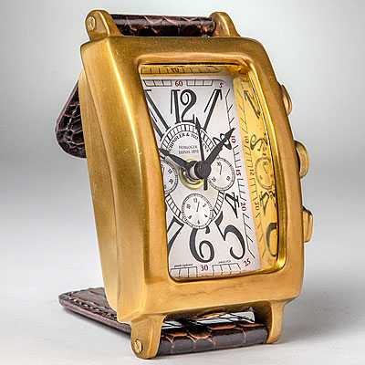 BRASS DESK WATCH CLOCK