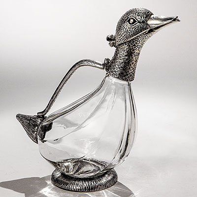 DUCK SHAPED DECANTER