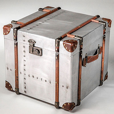 Small Square Metal Trunk