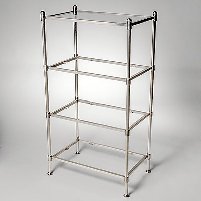 GLASS FOUR SHELF UNIT