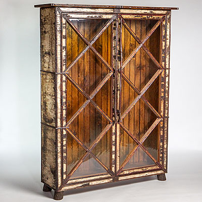 DIAMOND PANE LIBRARY CABINET