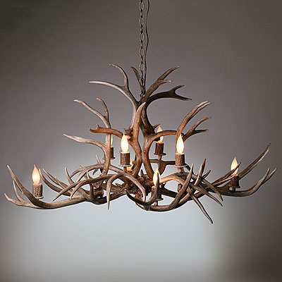 OVAL ANTLER CHANDELIER