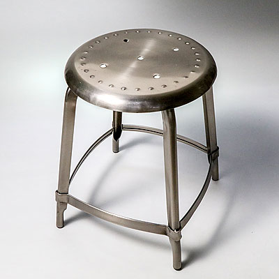 POLISHED METAL STOOL