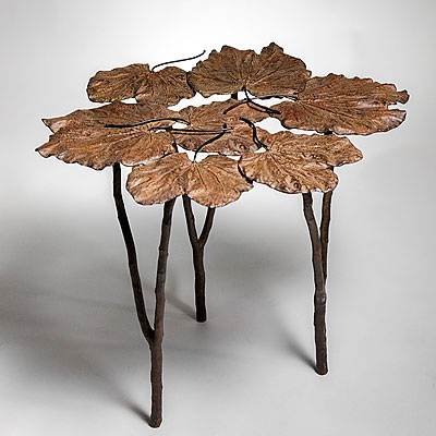 BRONZE LILY PAD TABLE