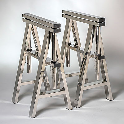 NARROW CHROME TABLE LEGS
