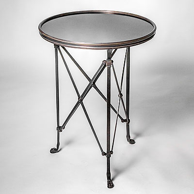 LARGE ROUND SIDE TABLE WITH GRANITE TOP
