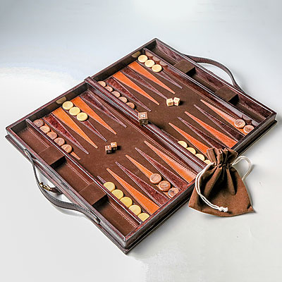 DARK BROWN BACKGAMMON GAME