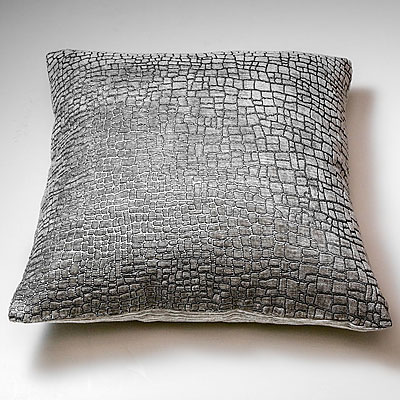 SMALL GREY MOSAIC PRINT FORTUNY PILLOW