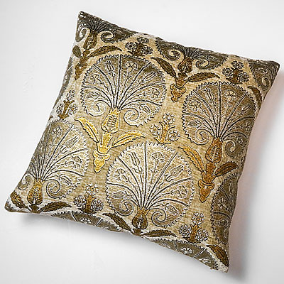 LARGE BEIGE ISTANBUL PRINT FORTUNY PILLOW