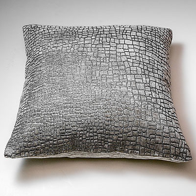 LARGE GREY MOSAIC PRINT FORTUNY PILLOW