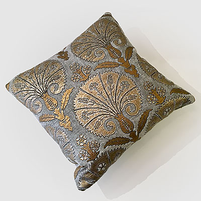 SMALL GREY ISTANBUL PRINT FORTUNY PILLOW