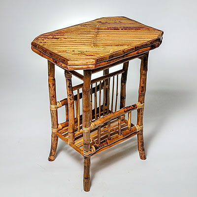 BAMBOO OCTAGON MAGAZINE TABLE