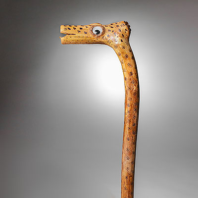 FOLK ART WALKING STICK