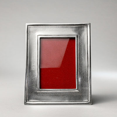 SMALL RECTANGULAR PEWTER FRAME