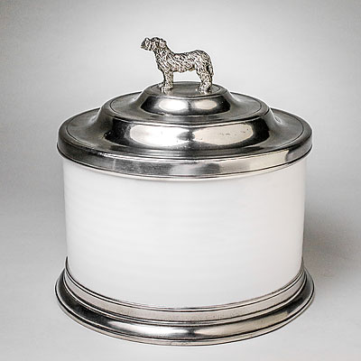 DOG COOKIE JAR WITH FINIAL