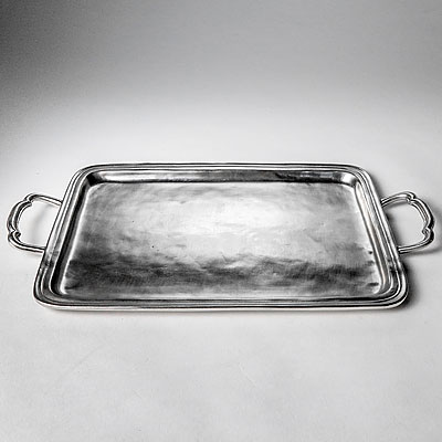 MEDIUM RECTANGULAR PEWTER TRAY