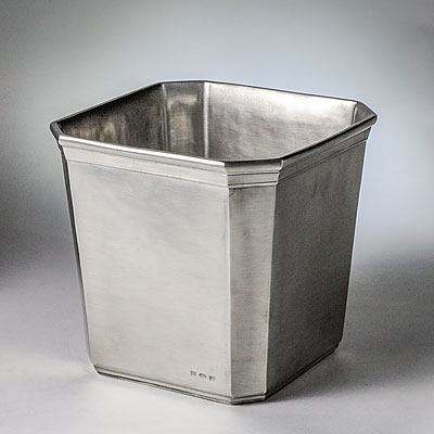 DOLOMITI PEWTER WASTE BASKET