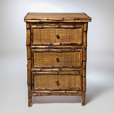 BAMBOO 3-DRAWER CHEST
