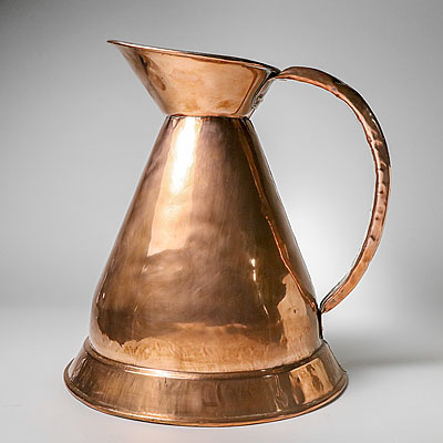 ENGLISH COPPER MEASURING PITCHER