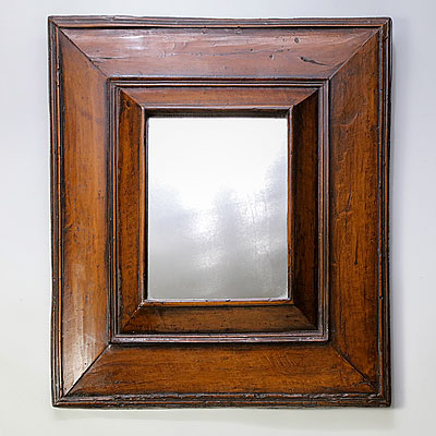 POLISHED WALNUT MIRROR