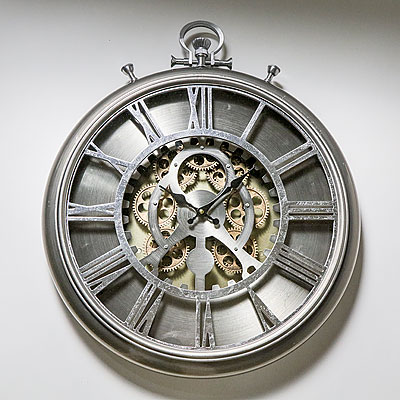 PEWTER WALL CLOCK
