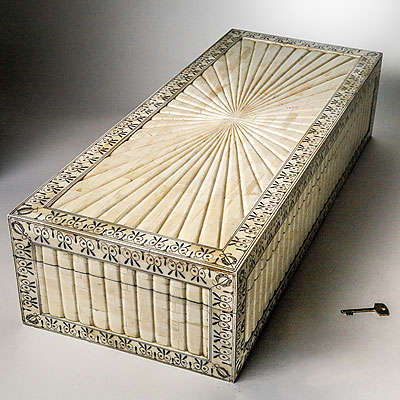 GRAND INLAID BONE BOX