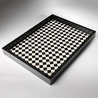 CHECKERED BONE TRAY