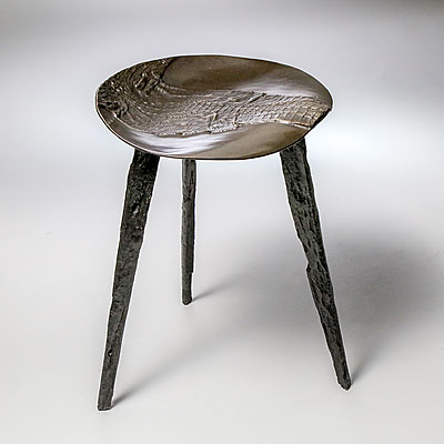 BRONZE ALLIGATOR STOOL