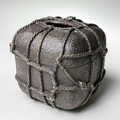 BRONZE ROPE TISSUE BOX