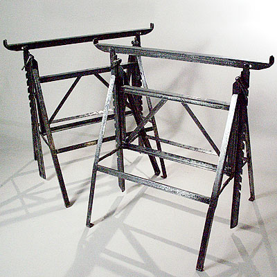 PAIR OF STEEL LEGS