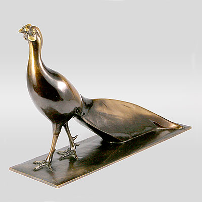 FRENCH BRONZE PHEASANT