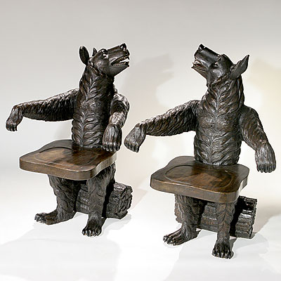 BLACK FOREST BEAR CHAIRS