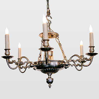 SILVER PLATED BRONZE CHANDELIER