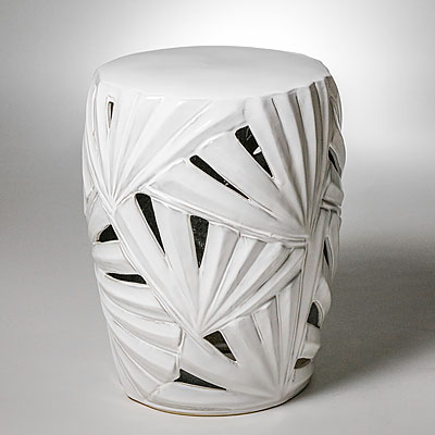 Swell White Palm Frond Garden Seat Ncnpc Chair Design For Home Ncnpcorg