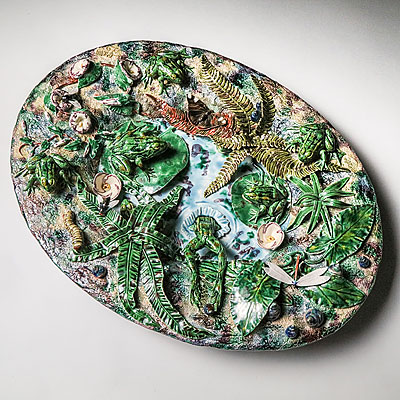 LARGE OVAL PALISSY PLATE