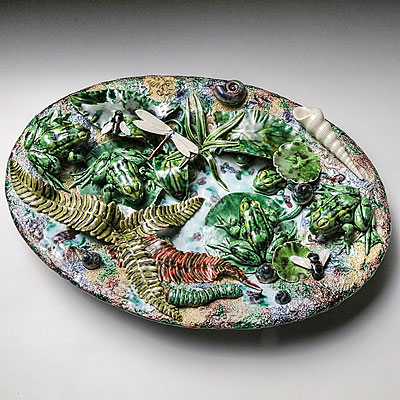 SMALL OVAL PALISSY PLATE